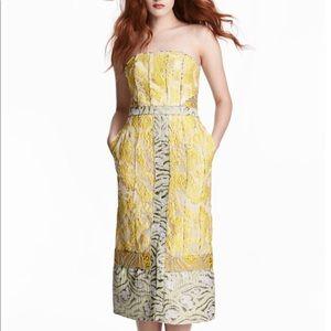 H&M Conscious Exclusive Lemon and Silver dress